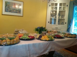 Home Party Food Table Set-Up