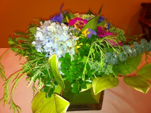Home Party, Receive Floral Delivery