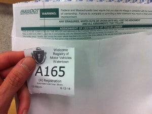 Registry of Motor Vehicles